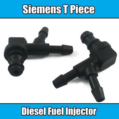 1x BMW Bosch Common Rail Fuel Injector T Piece Leak Off Clip Black Plastic