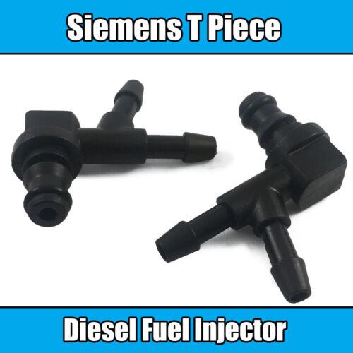 1x Siemens T Common Rail Fuel Injector T Piece Leak Off Clip Black Plastic