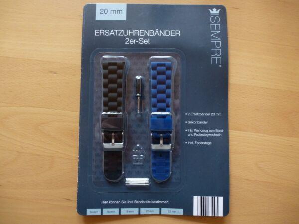Dynamisch Neu Uhrband ErsatzuhrenbÄnder SilikonbÄnder 2er-set 20mmm Inklu.federstege HüBsch Und Bunt