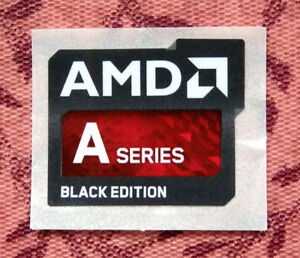 AMD A Series Black Edition Sticker 18 x 21.5mm APU Case Badge A10 ...