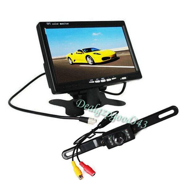 """s l1600 - Cámara de marcha atrás para automóvil + Kit de monitor de visión trasera de 7 """""""