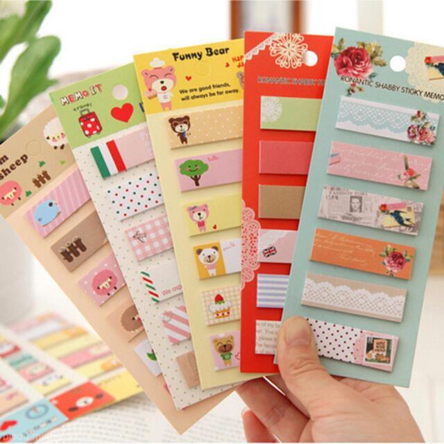 Child Kid Stationery Gift Sticker Bookmark Marker Memo Sticker Tips Hot