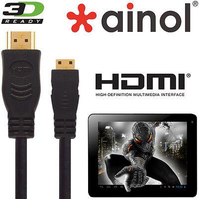 Ainol Novo 7, 10, Venere, Spark, Fire Tablet Hdmi Mini A Tv Hdmi 5m Cavo Di Piombo-mostra Il Titolo Originale