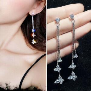 Fashion-Long-Crystal-Tassel-Earrings-Butterfly-Ear-Stud-Women-Charm-Jewelry-Gift