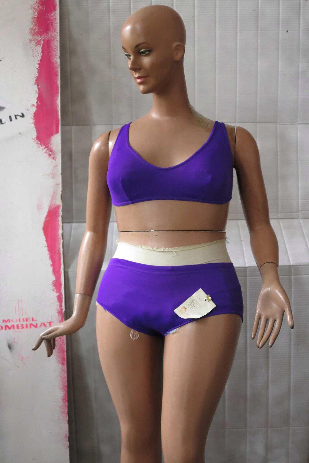 Sporett Bikini purple Schwimmmode 80er DDR TRUE VINTAGE 80s women swimsuit NOS