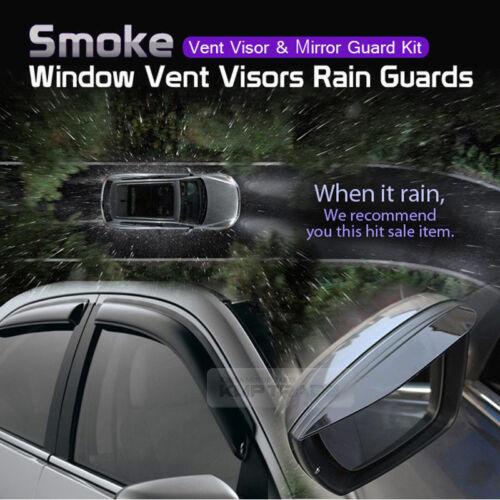 Smoke Window Vent Visors Side Mirror Rain Guard For HYUNDAI 11-17 Veloster Turbo