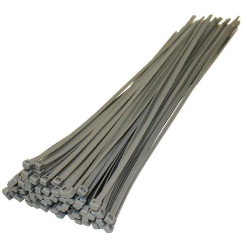 100x Heavy Duty forti legami Cavo Zip Tie Wrap-WHEEL CAP Trim Secure FIX