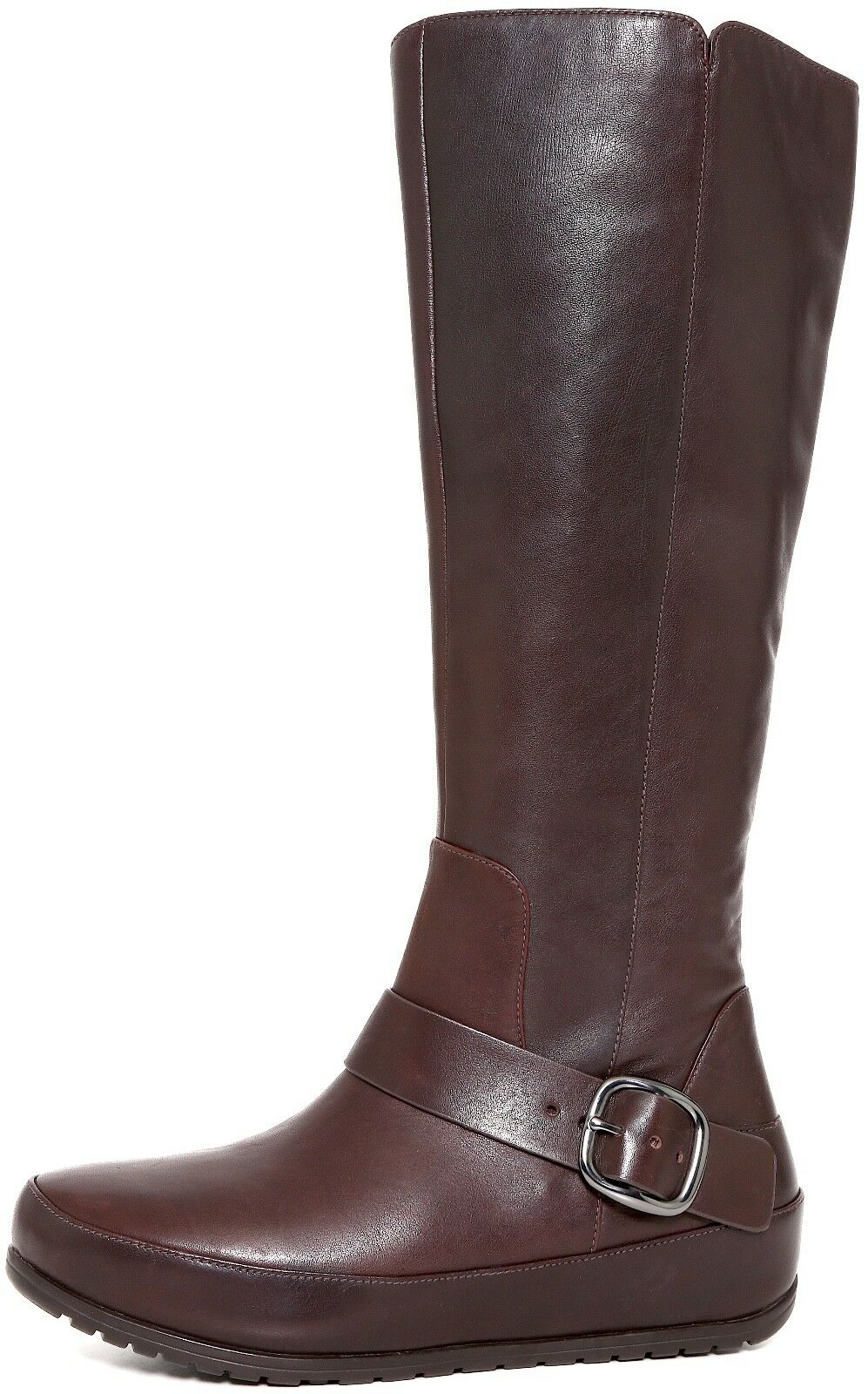 FitFlop 'Duéboot Buckle' Tall Brown Leather Boots 1555* Size 38 EU NEW