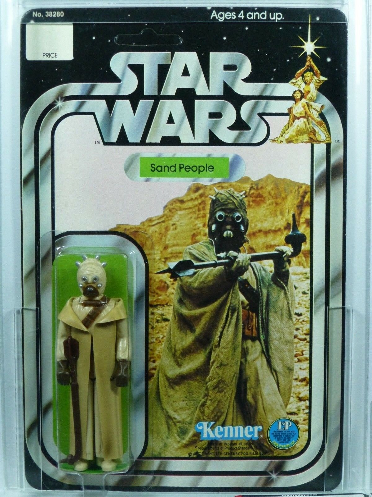 Star Wars Kenner 12-B Sand People Figure MOC AFA 85 Unpunched.