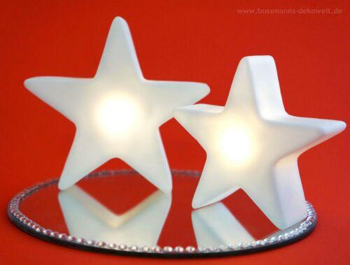 2 x Leuchte Stern 11,5 cm LED Beleuchtung Licht Dekoration Weihnachten Sterne