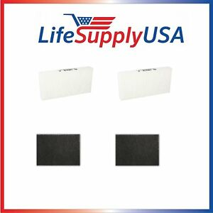 2-pack-HEPA-Replacement-Filter-SET-with-2-Carbon-Filters-for-Honeywell-HRF-R2
