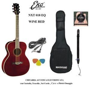 Eko NXT 018 EQ Wine Red Chitarra acustica Amplificata Rossa