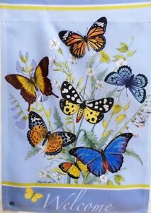 "Welcome Butterflies Garden Flag by Breeze Art 12""x18"", #9205"