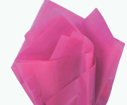 100 Sheets Cerise Gift Wrap Pom Pom Tissue Paper 15x20