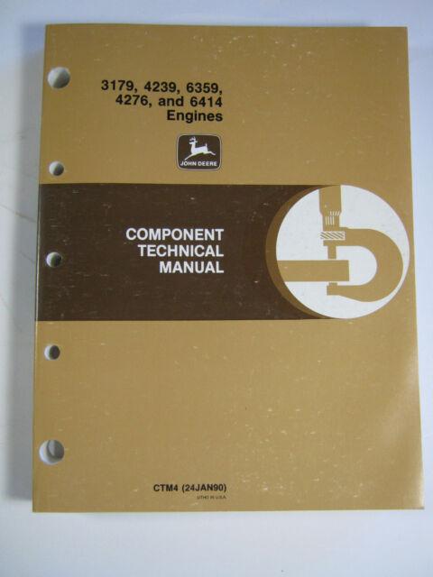 john deere component technical manual 3179 4239 6359 4276 6414 rh ebay com John Deere LT133 Owner's Manual John Deere LT133 Owner's Manual