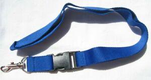 Azul-unbedrucktes-llavero-nuevo-Lanyard-a52