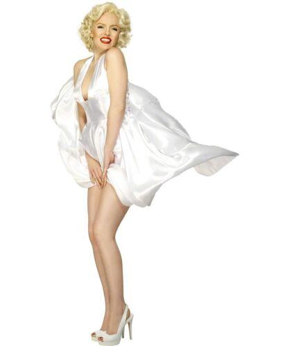 Marilyn Monroe Blanc Classique Dos-Nu Femme Ladies Fancy Dress Costume