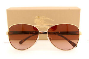 623eb33ffc4 Brand New Burberry Sunglasses BE 3080 1145 13 Gold Gradient Brown ...