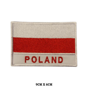 POLAND National Flag Embroidered Patch Iron on Sew On Badge For Clothes etc