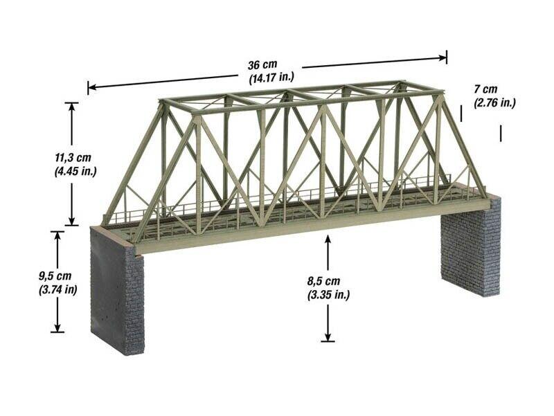 Todavía 67029 recuadro-puente con cabezas de puente laser-cut kit Spur h0