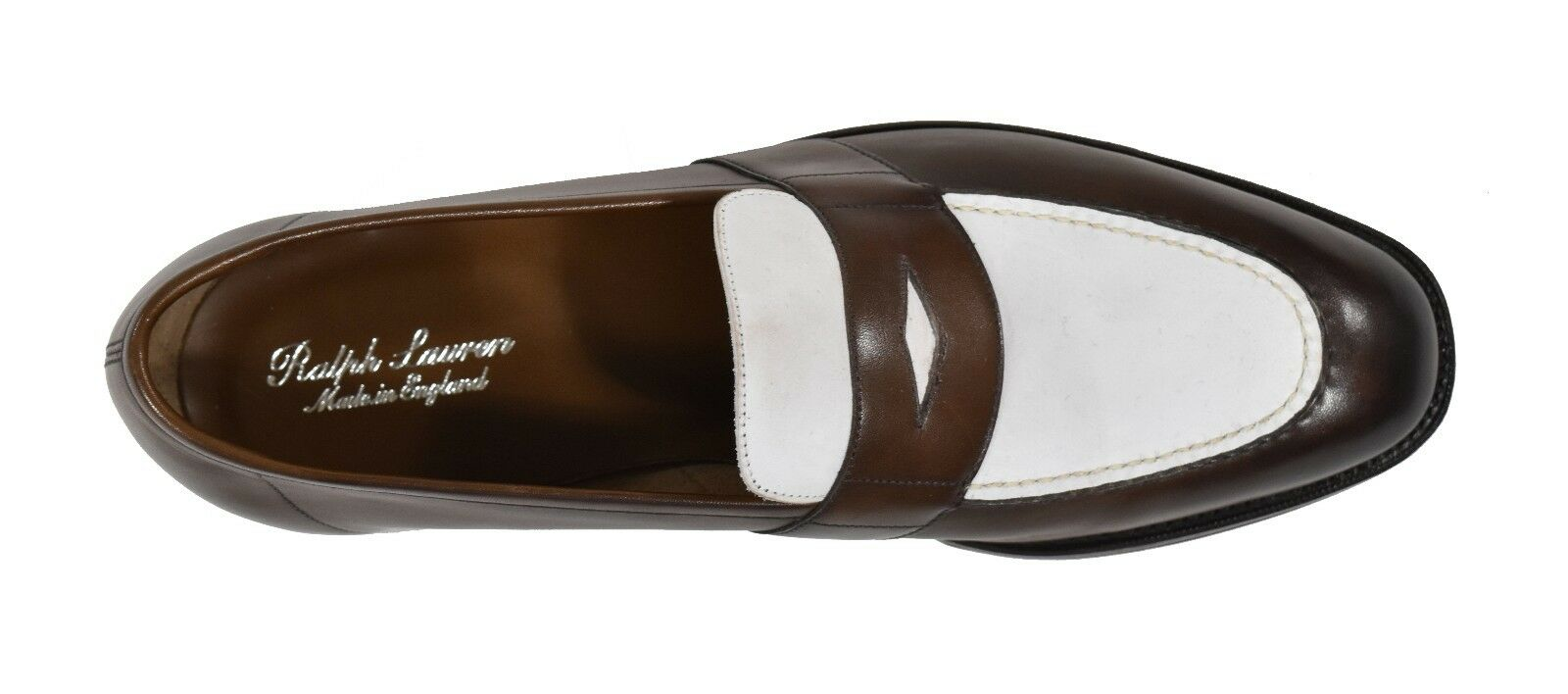 Ralph Loafers Lauren Purple Label Edward Green Pelle Tarlton Loafers Ralph 10 D New  1250 88874a