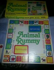 Vintage Animal Rummy Board Game / WARREN Paper Products