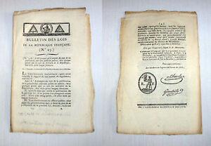 Revolution-Francaise-1793-Bulletin-des-Lois-N-25-scelle