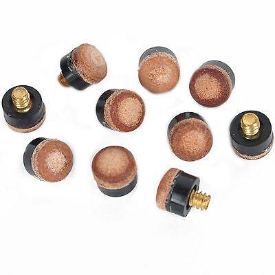 10 X 12mm Einschrauben Queuespitzen Snooker Pool Balls Ausrüstung Braun Empire Einfach Zu Reparieren