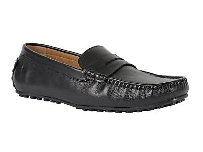 Chatham Mens Leather Driving Moccasins (toga) In Black