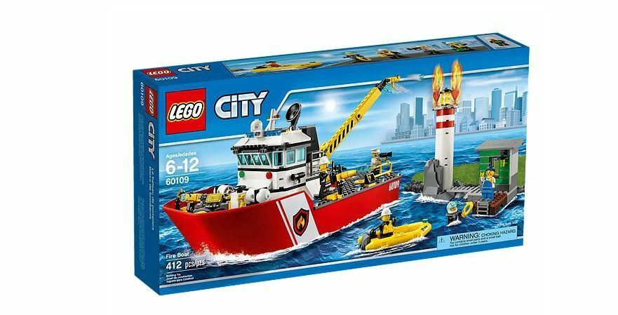 Lego CITY  60109 Fire Boat  confortablement