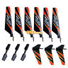 3 Pair Main Tail Blade Spare Part for WLTOYS V911 4CH 2.4GHz RC Helicopter Black