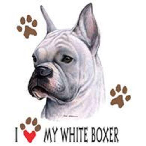 White Boxer Love Tote