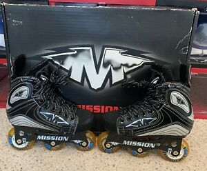 Mission-Inhaler-Hi-Lo-Inline-Roller-Hockey-Skates-Size-Youth-11E-Mint-Condition