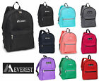 NEW EVEREST School  Backpack  Book & Sport Bag in 3 Solid Color High Quality