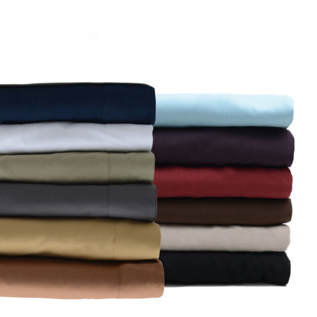 300TC Egyptian Cotton Quality Sheet Set KING MOCHA SOLID