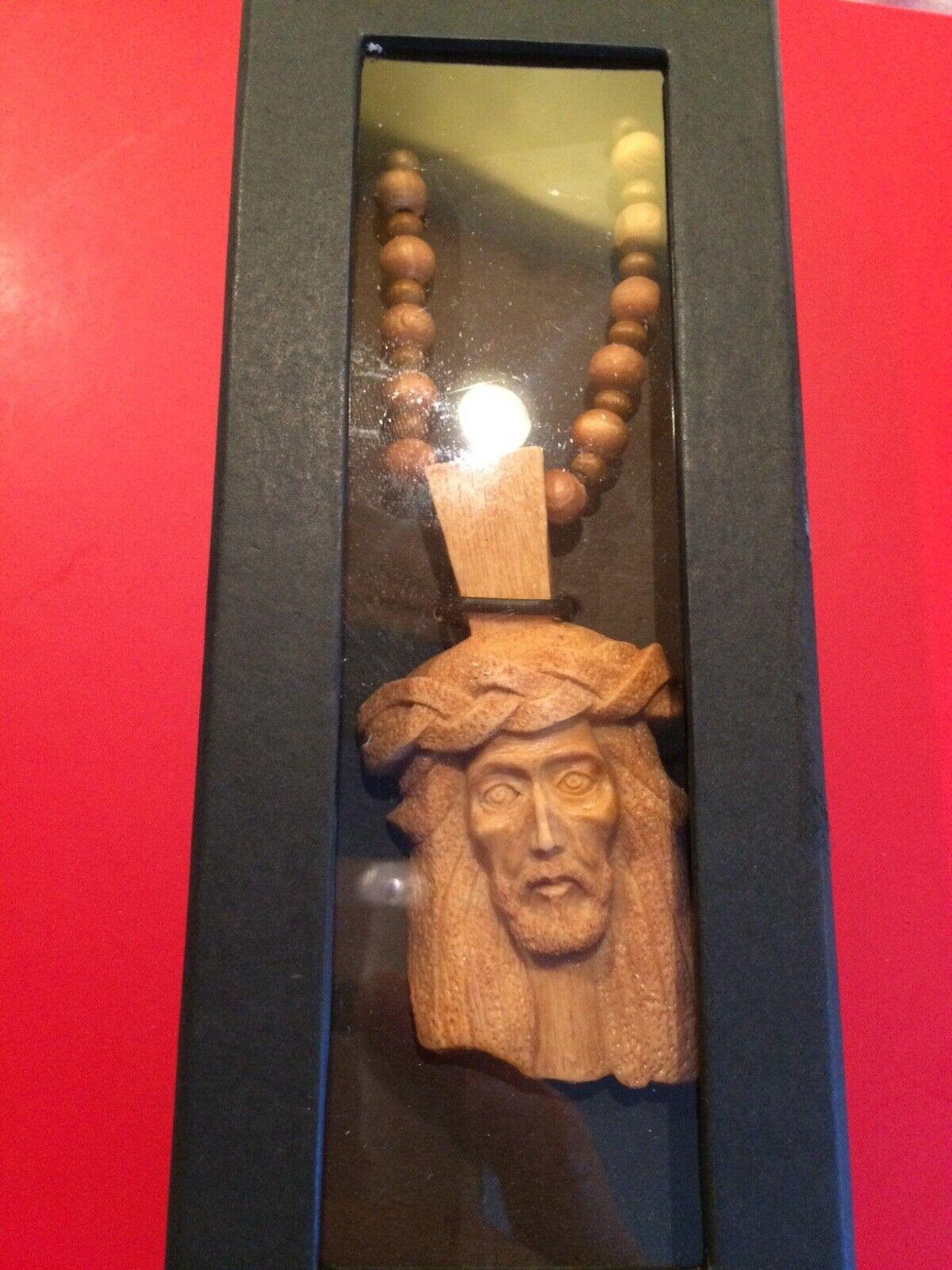 NORTHSKULL JESUS PIECE Cream chain Maple Wood as worn by Kayne west