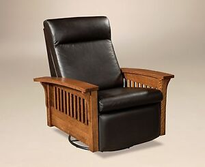 Image Is Loading Amish Mission Hoosier Glider Swivel Recliner Chair Solid
