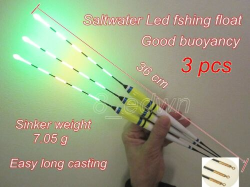 Batteries Local store 3 x Saltwater LED Electronic Night Fishing Float 36 cm