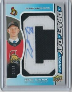 2019-20-UD-SP-Game-Used-Draft-Day-Marks-Autograph-Brady-Tkachuk-d-2-35-Letter-C