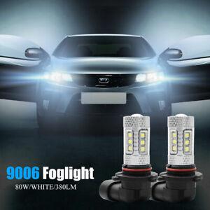 2x-LED-luz-de-niebla-Auto-lampara-de-cabeza-9006-HB4-Bombillas-de-conduccion