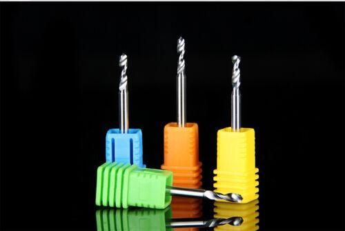10pcs Carbide Micro Drill Bits 3.175mm x0.15mmx 5mm CNC PCB Dremel 1//8 Shank