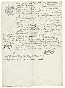1830-MANUSCRIPT-document-with-very-nice-oncial-signature-Damaged-authentic-white