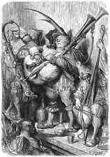 Gustave Dore gigantón Pantagruel 011 A4 Foto impresión