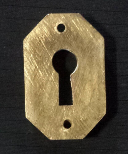 """8 avail 1/""""x1.5/"""" Clean Antique Vintage Solid Cast Brass Door Key Hole Cover Plate"""