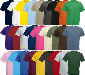 T-shirt Uomo FRUIT OF THE LOOM Valueweight S M L XL XXL XXXL Maglia Cotone Corta
