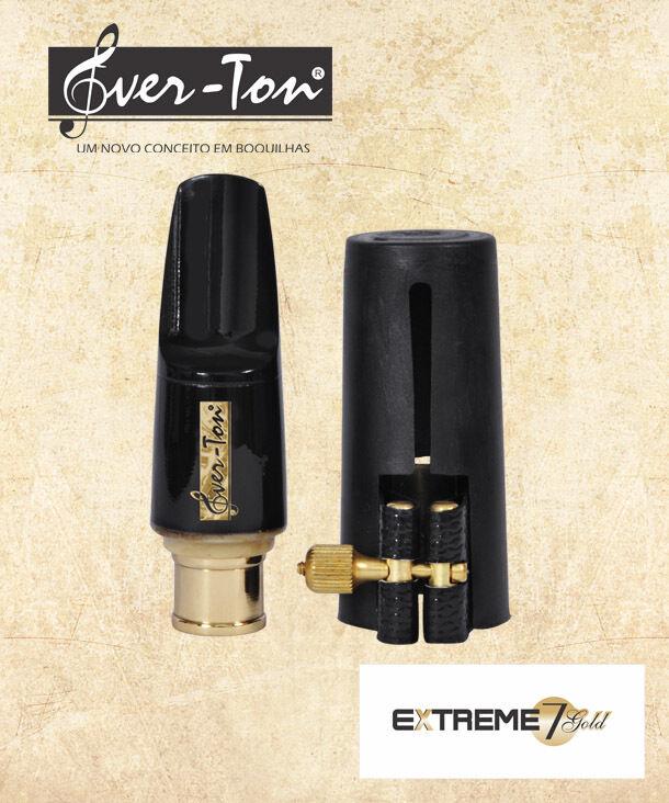 Ever-Ton Extreme Gold 7 Alto Sax Mundstück mit Lig und Cap