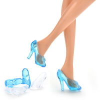 10 Pairs Crystal Shoes For Cinderella Princess Doll Shoes For Barbie Baby 2016