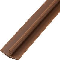 3/4 X 12' Plastic T-molding, Brown