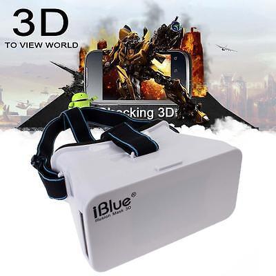 iBlue Head Plastic VR Vedio 3D Glasses for Iphone 6 Phone Google Cardboard #B BG