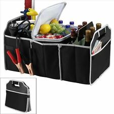 Car Boot Trunk Storage Organiser Foldable Canvas Tidy 3 Storage Compartments